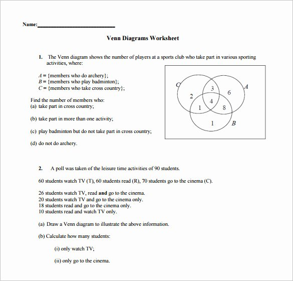Venn Diagrams Worksheet Luxury 10 Venn Diagram Worksheet Templates Pdf Doc