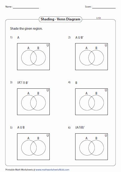 Venn Diagrams Worksheet New Venn Diagram Worksheets