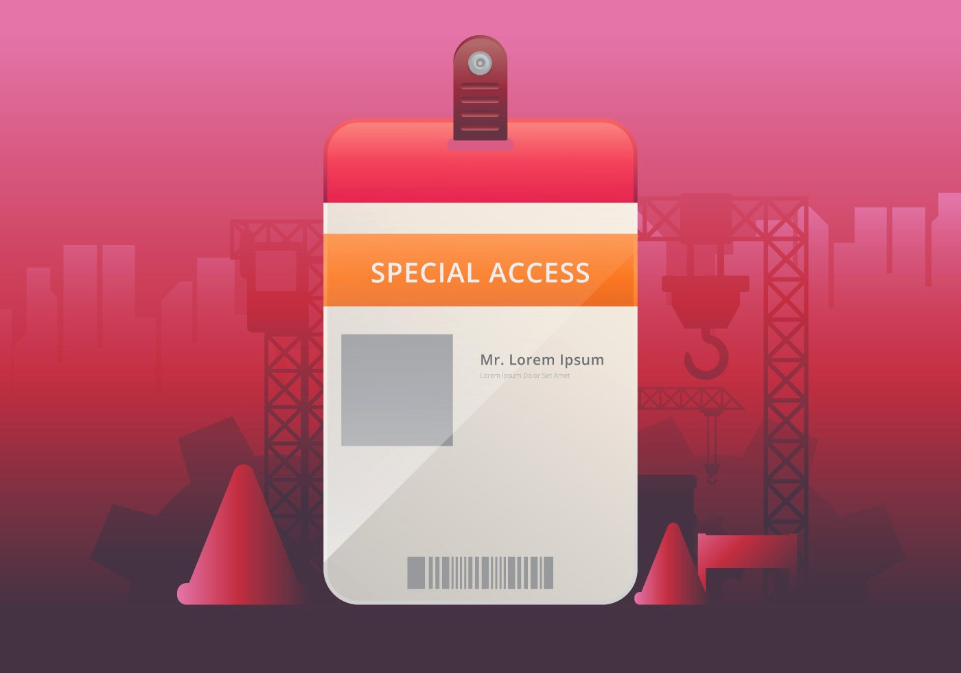 Vip Pass Template Microsoft Word Beautiful Vip Pass Id Card Template Realistic Blank Vertical Id for