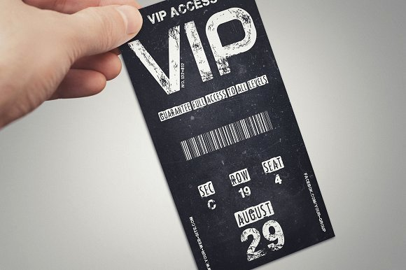 Vip Pass Template Microsoft Word Best Of Vintage Vip Pass Card Card Templates On Creative Market