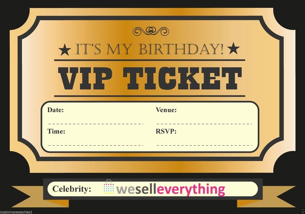 Vip Pass Template Microsoft Word Elegant Classy Vip Ticket Template Example for Birthday Party with