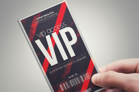 Vip Pass Template Microsoft Word Elegant Devil Red Vip Pass Card Templates On Creative Market
