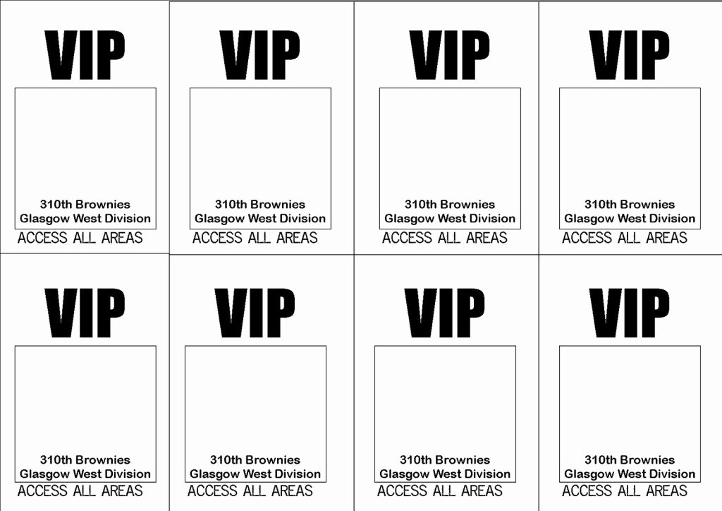 Vip Pass Template Microsoft Word Fresh Free Printable Vip Ticket Access Template Example with