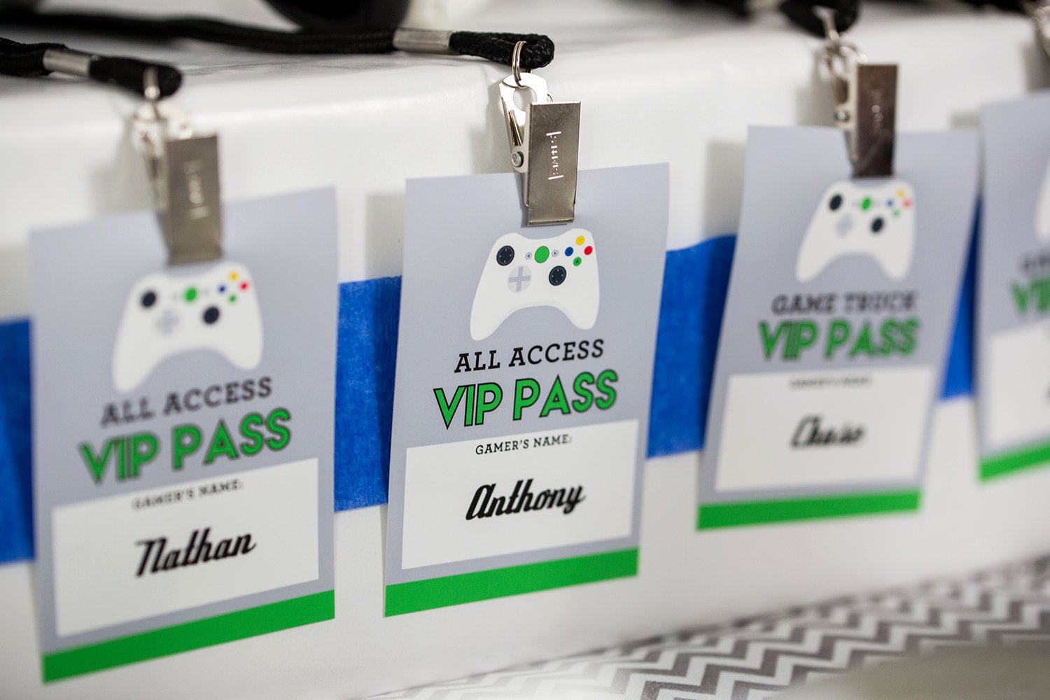 Vip Pass Template Microsoft Word Fresh Printable Video Game Birthday Party Decorations — 505