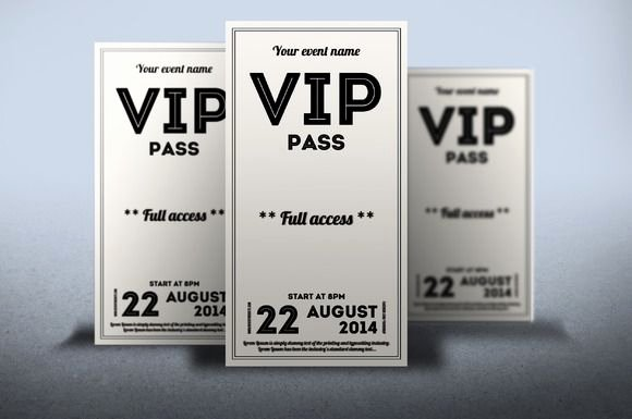 Vip Pass Template Microsoft Word Inspirational Clean Retro Style Vip Pass Card by Tzochko On Creative