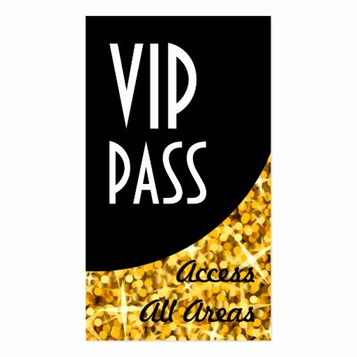 "Vip Pass Template Microsoft Word Lovely Glitz ""gold"" Vip Pass Black Curve Business Card"