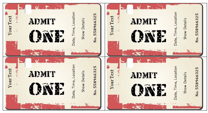 Vip Pass Template Microsoft Word Luxury 6 Ticket Templates for Word to Design Your Own Free Tickets
