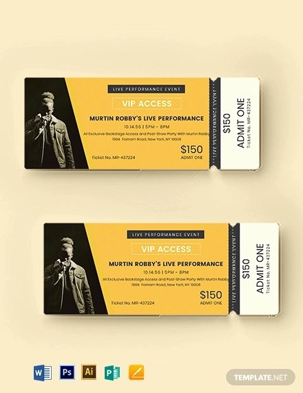 Vip Pass Template Microsoft Word Unique 15 Vip event Ticket Designs & Examples Psd Ai