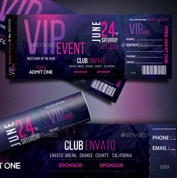Vip Pass Template Microsoft Word Unique 66 Multipurpose Ticket Templates 2018 Psd Vector Word