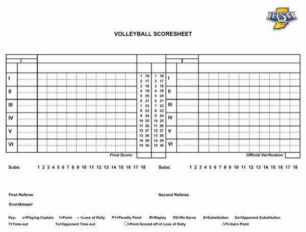 Volleyball Stat Sheet Template Awesome Download Basic Volleyball Scoresheet for Free formtemplate