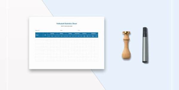 Volleyball Stat Sheet Template Fresh Volleyball Statistics Excel Spreadsheet Google Spreadshee