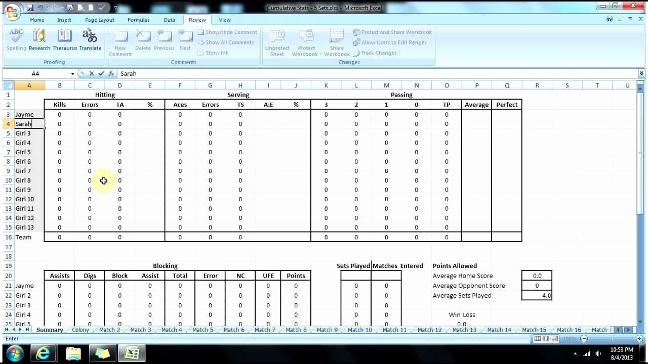 Volleyball Stat Sheet Template Unique Volleyball Stats Page Tutorial by Straight From Dehart
