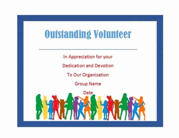 Volunteer Certificate Of Appreciation Templates Awesome 50 Free Volunteering Certificates Printable Templates