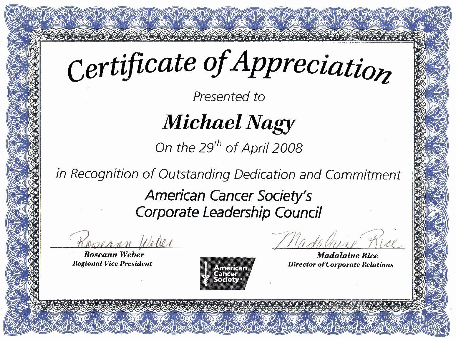 Volunteer Certificate Of Appreciation Templates Best Of Certificate Appreciation Template Best Template