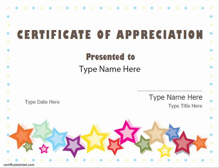 Volunteer Certificate Of Appreciation Templates Elegant Special Certificates Appreciation Award