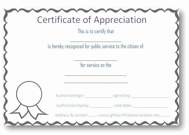 Volunteer Certificate Of Appreciation Templates Fresh 37 Best Images About Certificate Of Appreciation Templates