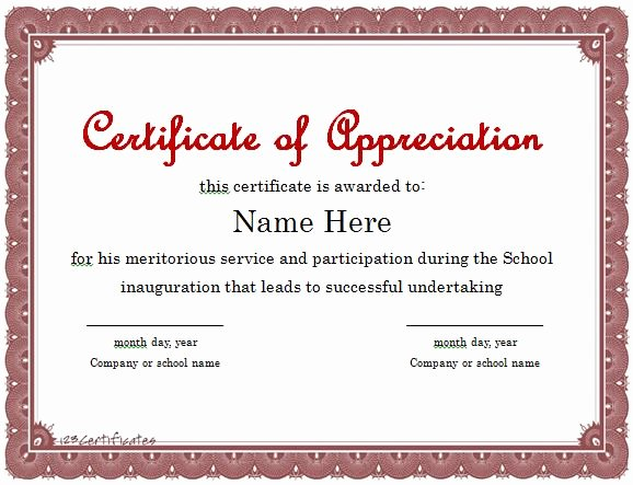 Volunteer Certificate Of Appreciation Templates Fresh Volunteer Appreciation Certificate Template