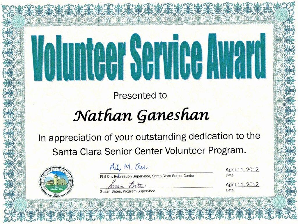Volunteer Certificate Of Appreciation Templates Inspirational Munity Service