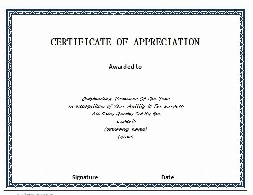 Volunteer Certificate Of Appreciation Templates Luxury 31 Free Certificate Of Appreciation Templates and Letters