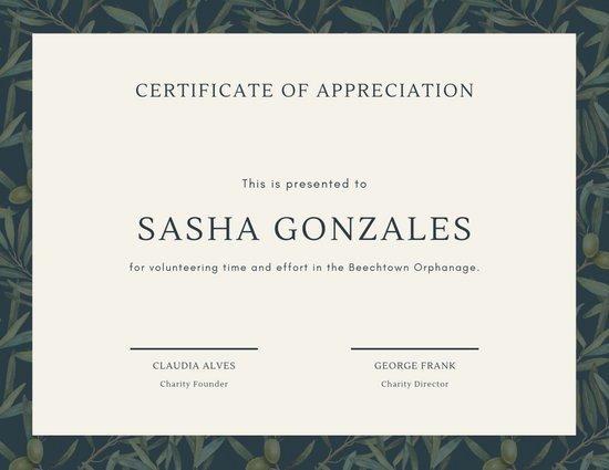 Volunteer Certificate Of Appreciation Templates Luxury Customize 63 Appreciation Certificate Templates Online