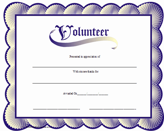 Volunteer Certificate Of Appreciation Templates Luxury Volunteer Appreciation Certificates Line Signup Blog