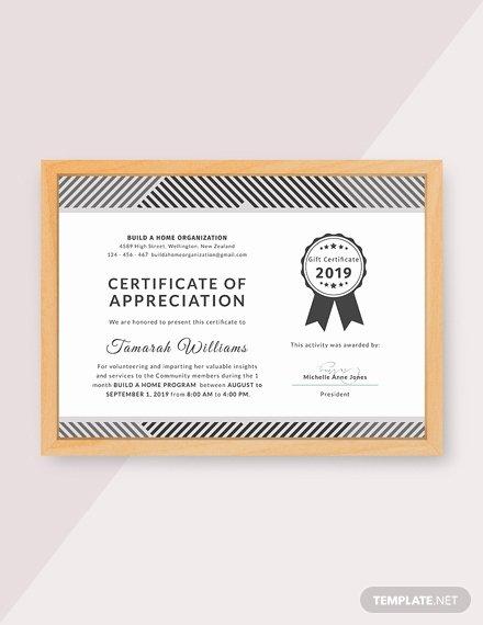Volunteer Certificate Of Appreciation Templates New Free Church Certificate Of Appreciation Template Download