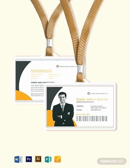 Wallet Card Template Word Fresh Security Ficer Id Card Template Download 274 Id Cards