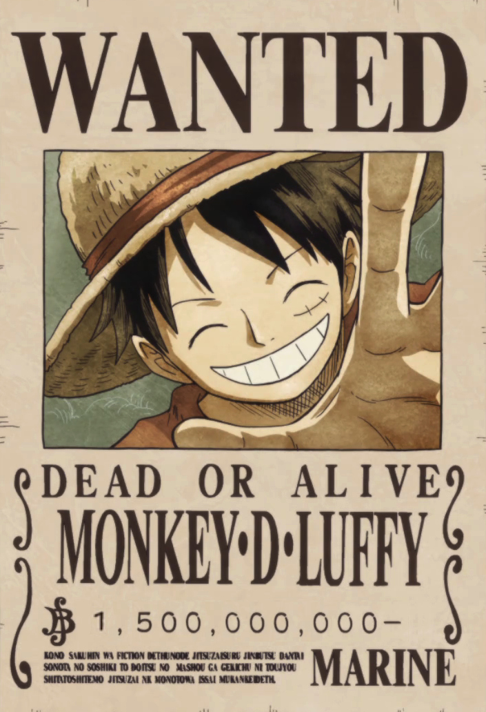 Wanted Poster One Piece Awesome Monkey D Luffy Bounty Poster E Piece