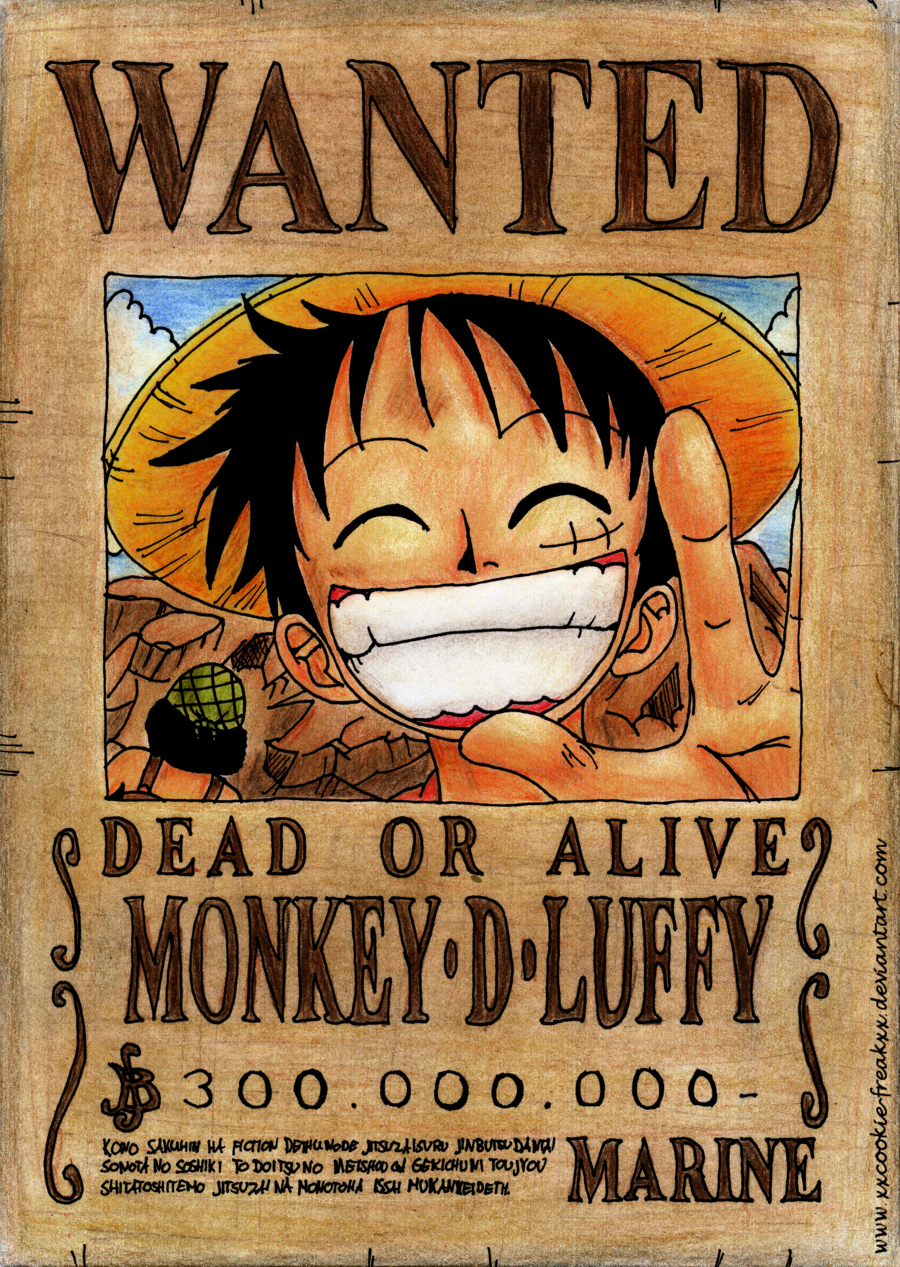 Wanted Poster One Piece Best Of Luffy Wanted Poster Wallpaper Anime
