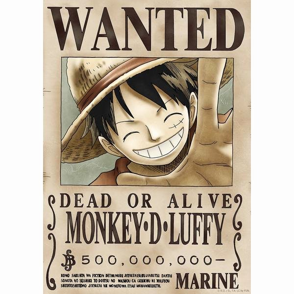 Wanted Poster One Piece Elegant One Piece Wanted Stick & Peel Poster New World Ficial
