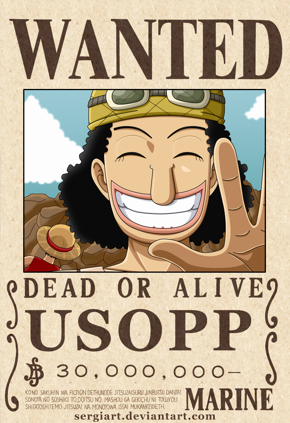 Wanted Poster One Piece Fresh E Piece Usopp Wanted Poster by Sergiart On Deviantart
