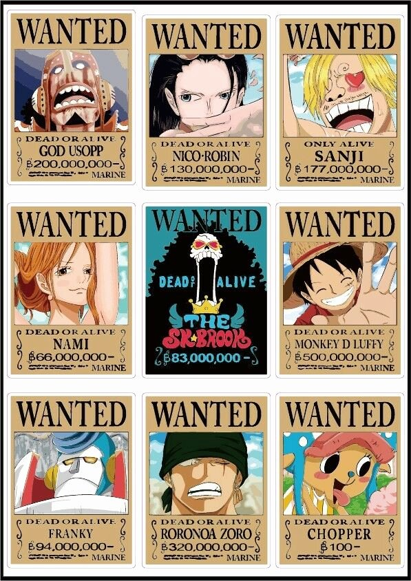 Wanted Poster One Piece Inspirational E Piece Latest Wanted Posters Luffy Chopper Usopp New