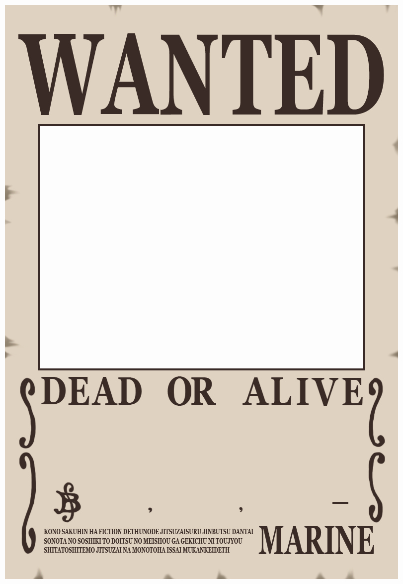 Wanted Poster One Piece Inspirational Make Yourself Wanted