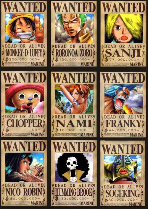 Wanted Poster One Piece Luxury One Piece Wanted All Poster E Piece Picture