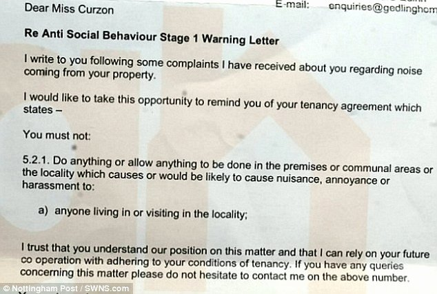 Warning Letter to Tenant Elegant Netherfield Mother Has Been Slapped with An asbo Warning