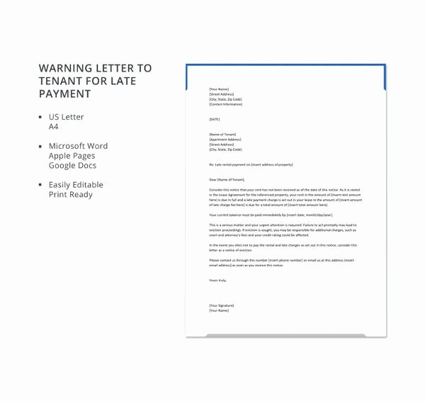 Warning Letter to Tenant Lovely Tenant Warning Letter Template 8 Free Word Pdf format