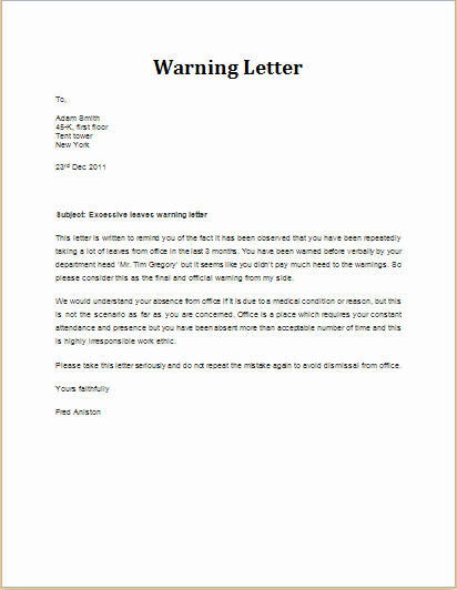 Warning Letter to Tenant Luxury Pin by Alizbath Adam On Daily Microsoft Templates