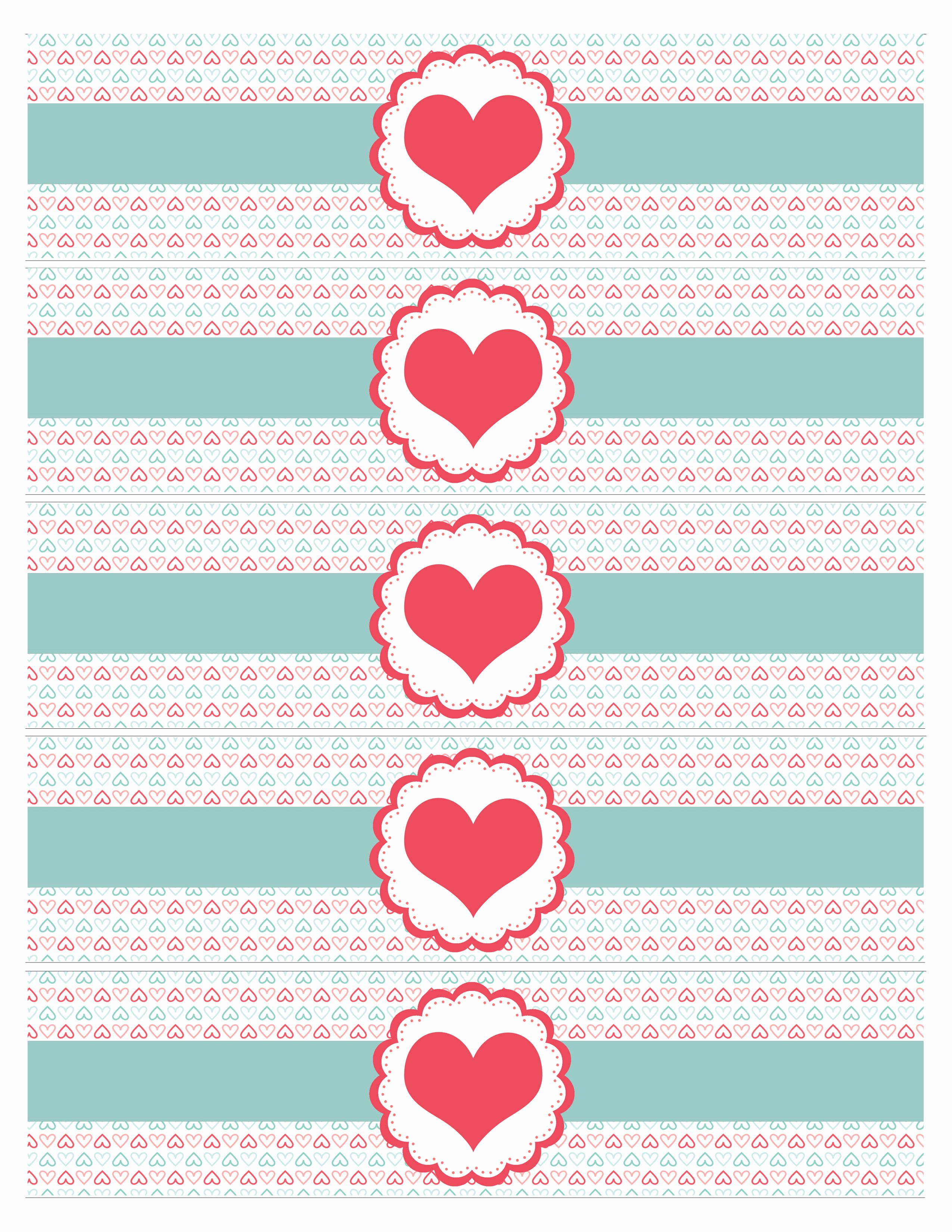 Water Bottle Template Free Elegant Valentine S Day Party Free Printables How to Nest for Less™