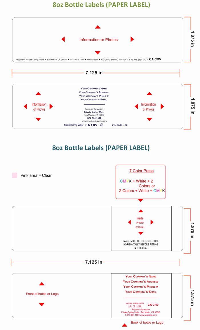 Water Bottle Template Free Lovely Water Bottle Label Template Make Personalized Bottle Labels