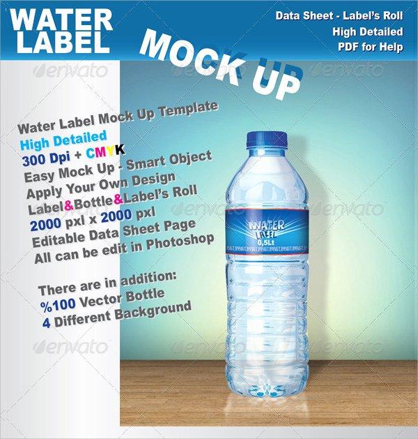 Water Bottle Template Free Luxury Free 22 Sample Water Bottle Label Templates In Psd