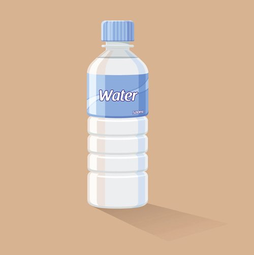 Water Bottle Template Free New Vector Water Bottle Template Material 01 Vector Other