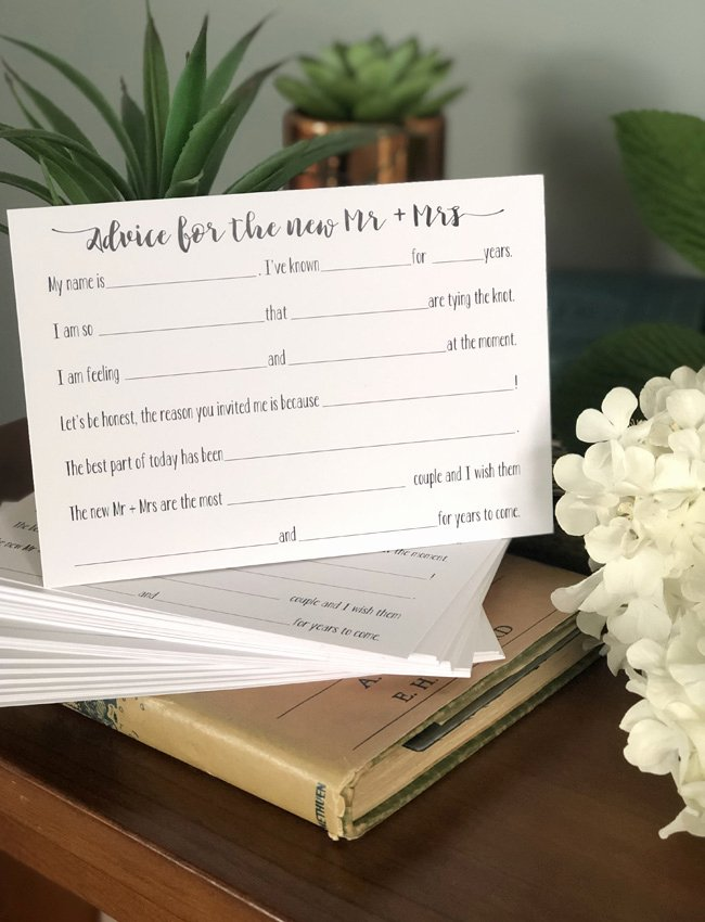 Wedding Advice Cards Funny Best Of Fun Wedding Advice Cards Be My Guest