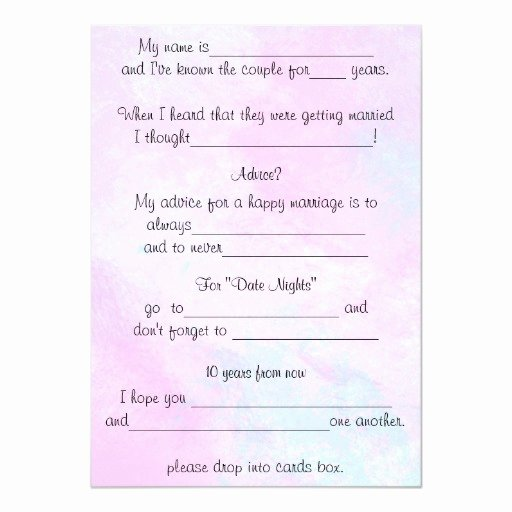 Wedding Advice Cards Funny Elegant Funny Wedding Advice Watercolor Ment Cards 13 Cm X 18