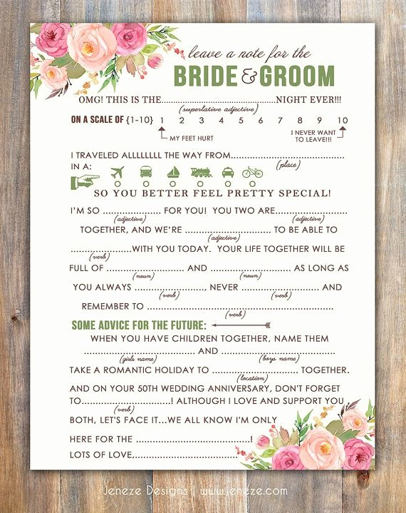 Wedding Advice Cards Funny Luxury 25 Best Ideas About Mad Libs On Pinterest