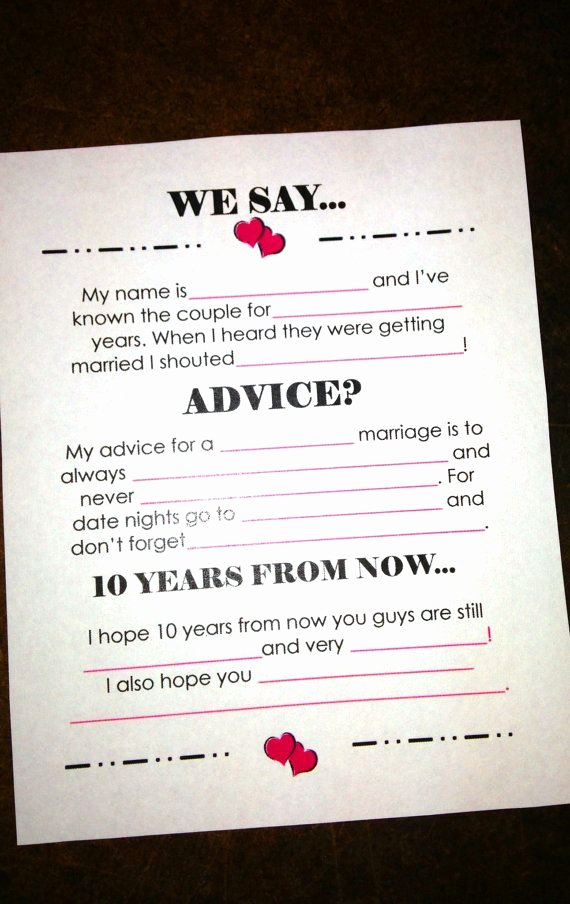 Wedding Advice Cards Funny Unique Advice Cards Wedding