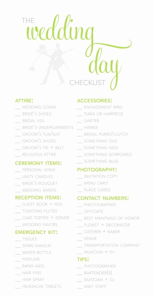 Wedding Day Checklist Printable Best Of the 25 Best Wedding Checklist Printable Ideas On