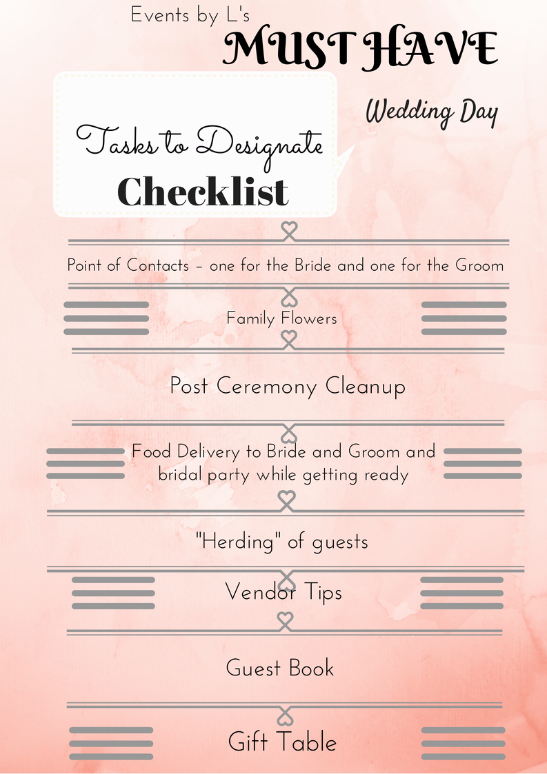 Wedding Day Checklist Printable Fresh A Bride's Guide – Most Important Wedding Day Tasks Part 2