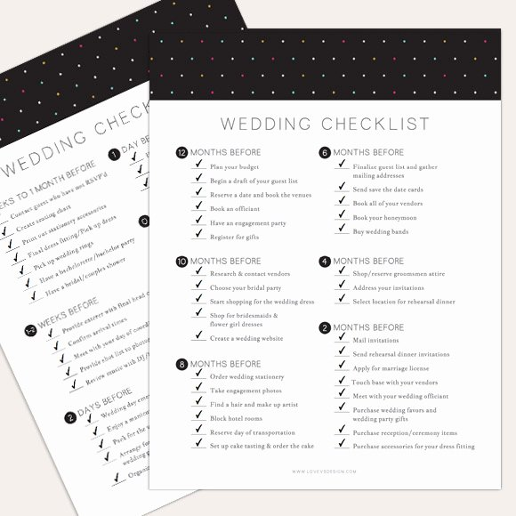 Wedding Day Checklist Printable Luxury Love Vs Design 23 Free Printables that are Perfect for
