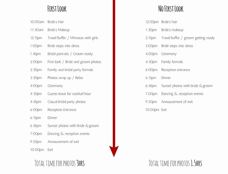 Wedding Day Timeline Printable Awesome First Look Wedding Photos Timeline Google Search