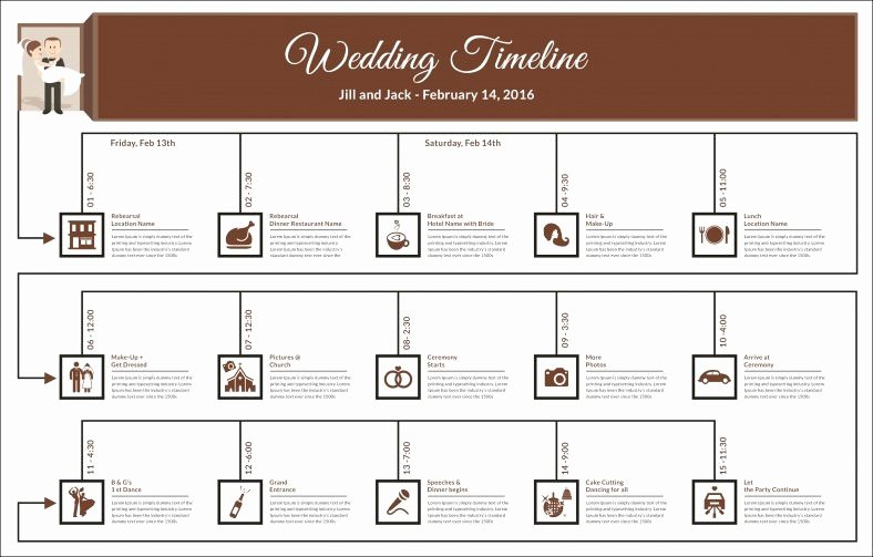 Wedding Day Timeline Printable Beautiful 29 Wedding Timeline Template Word Excel Pdf Psd